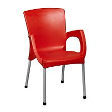 Cafe Arm Chair Red-1